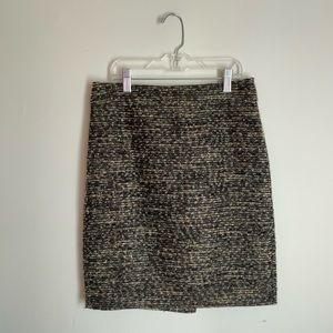 ANN TAYLOR Petite Woven Mini Pencil Skirt